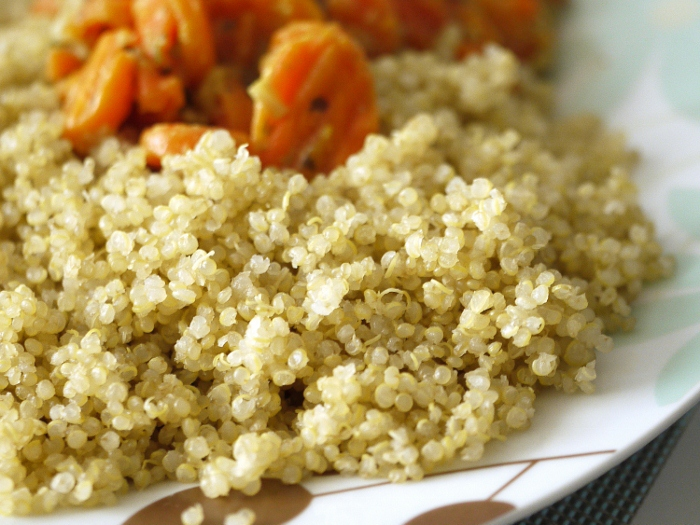 cooked quinoa dinner photos