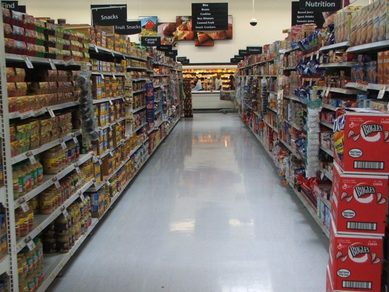 stock grocery store aisles