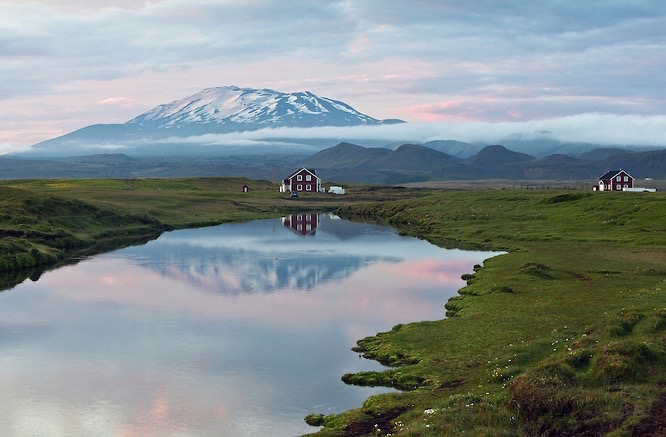 reflections on the lake in Iceland